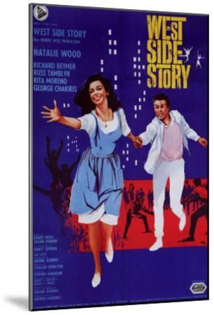 West Side Story, Italian Movie Poster, 1961--Mounted Art Print