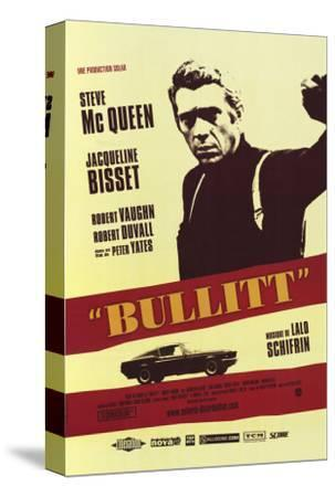 Bullitt, French Movie Poster, 1968--Stretched Canvas Print