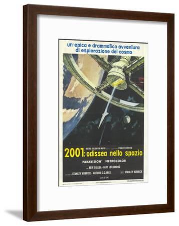 2001: A Space Odyssey, Italian Movie Poster, 1968--Framed Art Print