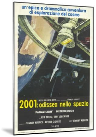 2001: A Space Odyssey, Italian Movie Poster, 1968--Mounted Art Print