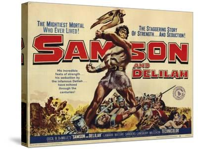 Samson and Delilah, 1959--Stretched Canvas Print