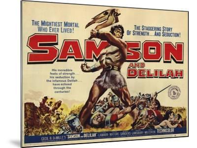 Samson and Delilah, 1959--Mounted Art Print