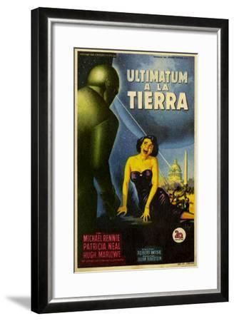 The Day The Earth Stood Still, Italian Movie Poster, 1951--Framed Art Print