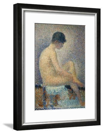 Model in Profile-Georges Seurat-Framed Giclee Print