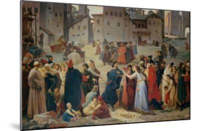 Provenzano Salvani Begging in Piazza del Campo-Amos Cassioli-Mounted Giclee Print