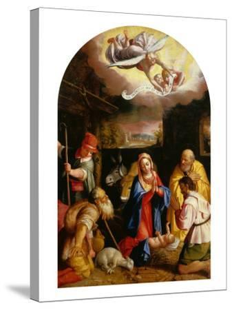 Adoration of the Shepherds-Durante Alberti-Stretched Canvas Print