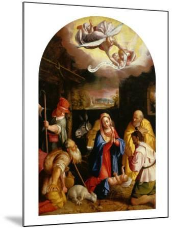 Adoration of the Shepherds-Durante Alberti-Mounted Giclee Print