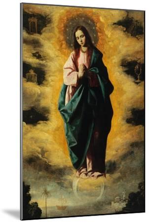 Immaculate Conception-Francisco de Zurbar?n-Mounted Giclee Print