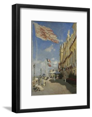 The Hotel des Roches Noires at Trouville-Claude Monet-Framed Giclee Print