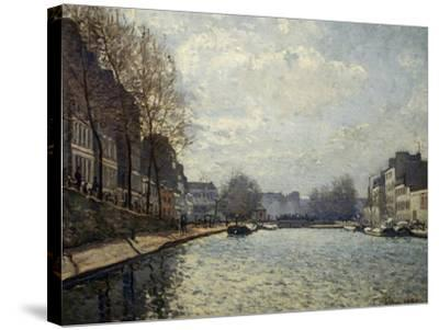 View of the Saint-Martin Canal-Alfred Sisley-Stretched Canvas Print