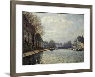 View of the Saint-Martin Canal-Alfred Sisley-Framed Giclee Print