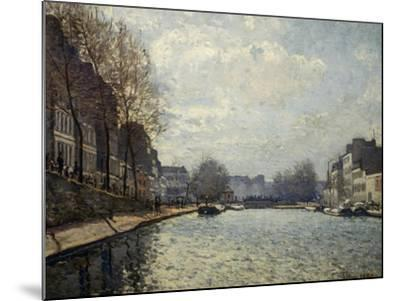 View of the Saint-Martin Canal-Alfred Sisley-Mounted Giclee Print