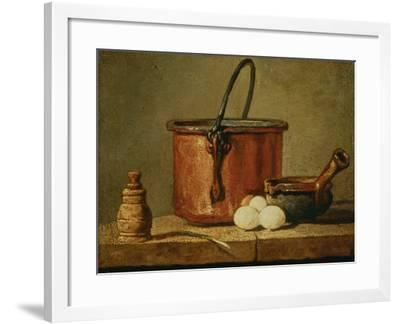 Still Life with Copper Vessel-Jean-Baptiste Simeon Chardin-Framed Giclee Print