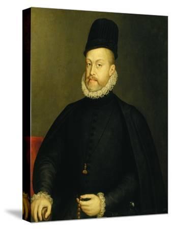 Portrait of Philip II-Alonso Sanchez Coello-Stretched Canvas Print