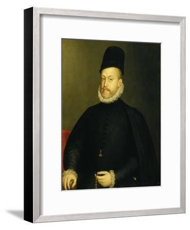 Portrait of Philip II-Alonso Sanchez Coello-Framed Premium Giclee Print