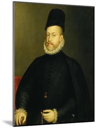 Portrait of Philip II-Alonso Sanchez Coello-Mounted Premium Giclee Print