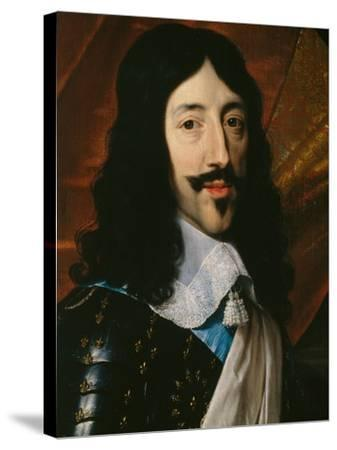 Portrait of the King Louis XIII-Philippe De Champaigne-Stretched Canvas Print
