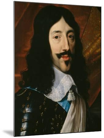 Portrait of the King Louis XIII-Philippe De Champaigne-Mounted Giclee Print
