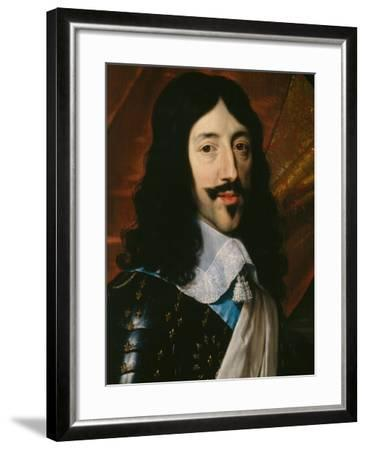 Portrait of the King Louis XIII-Philippe De Champaigne-Framed Giclee Print