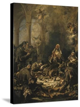The Nuns' Meal-Alessandro Magnasco-Stretched Canvas Print