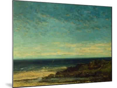 Seascape at Maguelonne-Gustave Courbet-Mounted Giclee Print