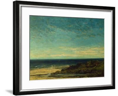 Seascape at Maguelonne-Gustave Courbet-Framed Giclee Print