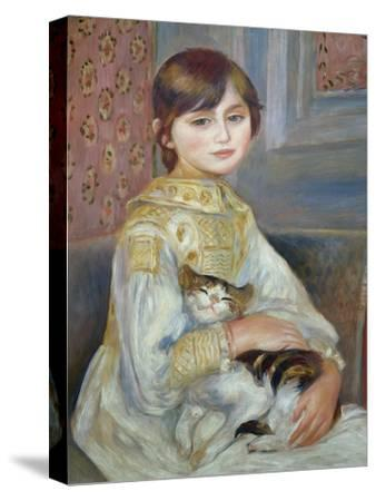 Portrait of Julie Manet or Little Girl with Cat-Pierre-Auguste Renoir-Stretched Canvas Print