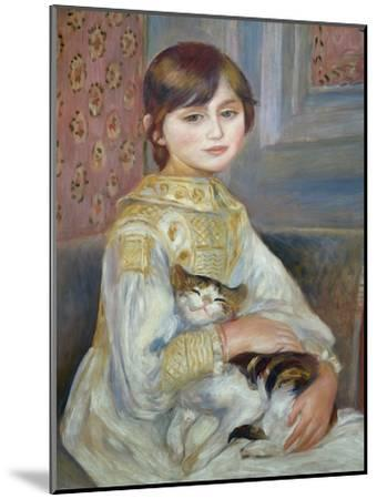 Portrait of Julie Manet or Little Girl with Cat-Pierre-Auguste Renoir-Mounted Premium Giclee Print