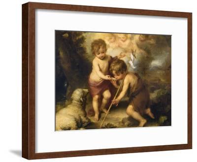 The Children of the Shell-Bartolome Esteban Murillo-Framed Giclee Print