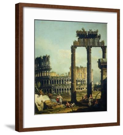 Roman Caprice with the Colosseum-Bernardo Bellotto-Framed Giclee Print