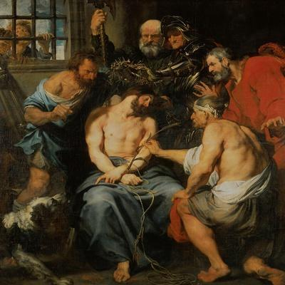 Crowning with Thorns-Sir Anthony Van Dyck-Stretched Canvas Print