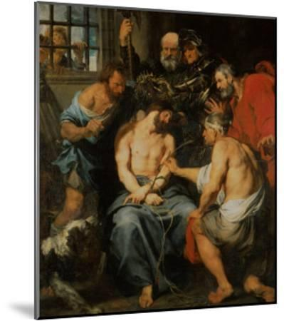 Crowning with Thorns-Sir Anthony Van Dyck-Mounted Giclee Print