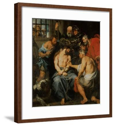 Crowning with Thorns-Sir Anthony Van Dyck-Framed Giclee Print