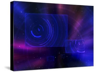 Digitally Generated Image of a Space Travel Scene--Stretched Canvas Print