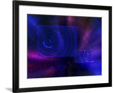 Digitally Generated Image of a Space Travel Scene--Framed Photographic Print