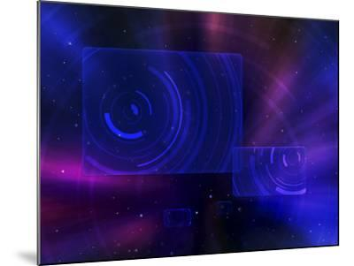 Digitally Generated Image of a Space Travel Scene--Mounted Photographic Print