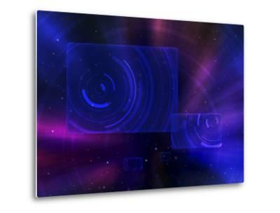 Digitally Generated Image of a Space Travel Scene--Metal Print