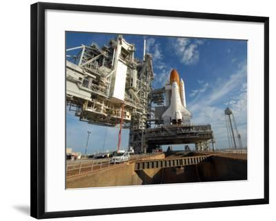 View Space Shuttle Atlantis on Launch Pad 39A at the Kennedy Space Center--Framed Photographic Print