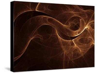 Abstract Gold Illustration--Stretched Canvas Print