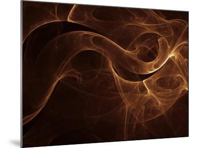 Abstract Gold Illustration--Mounted Photographic Print