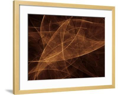 Abstract Gold Illustration--Framed Photographic Print