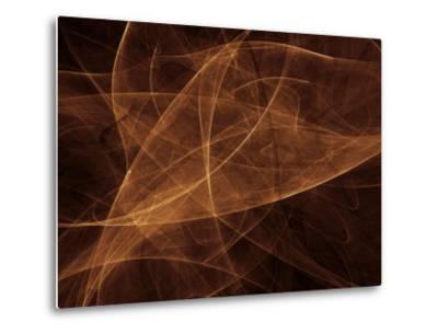 Abstract Gold Illustration--Metal Print