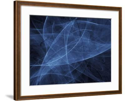 Abstract Blue Illustration--Framed Photographic Print