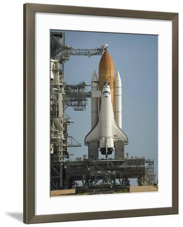Space Shuttle Discovery Sits Ready on the Launch Pad at Kennedy Space Center--Framed Photographic Print