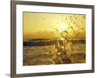 Water Splashing with Sun in the Background-Rob Lang-Framed Photographic Print