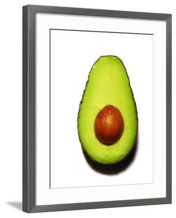 Half an Avocado on a White Background-Tina Chang-Framed Photographic Print