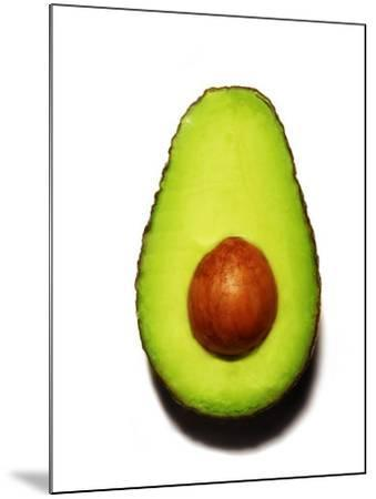 Half an Avocado on a White Background-Tina Chang-Mounted Photographic Print
