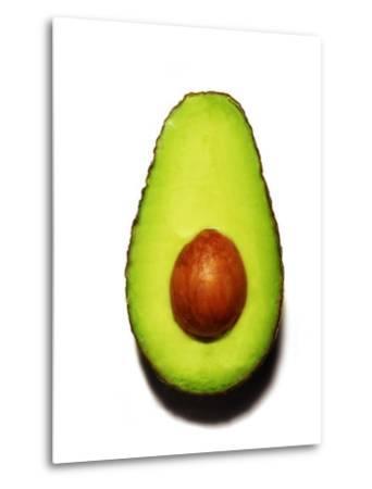 Half an Avocado on a White Background-Tina Chang-Metal Print