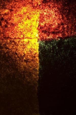 Abstract Image in Red, Yellow, and Green-Daniel Root-Stretched Canvas Print