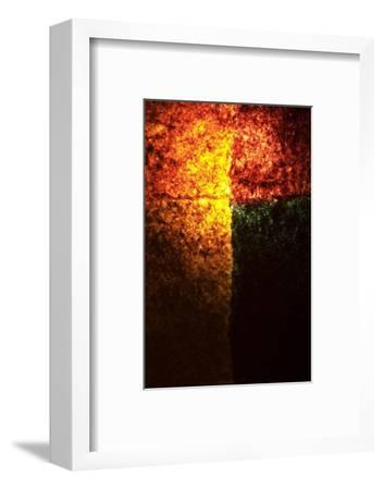 Abstract Image in Red, Yellow, and Green-Daniel Root-Framed Giclee Print